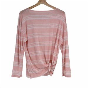 Blue life pink striped casual tee size small